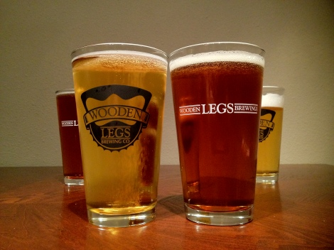 Wooden Legs Brewing Co Logo Glassware